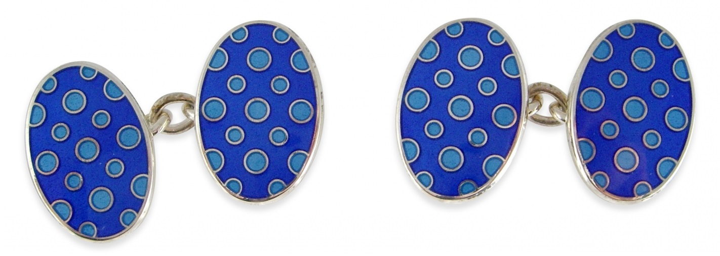 retro enamel cufflinks